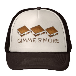 Gimme Smore Chocolate S'mores Camping Camp Hat