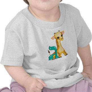 Gimmel Hebrew Aleph Bet Alphabet Giraffe T-Shirt