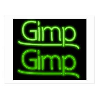Gimp Sign Postcard