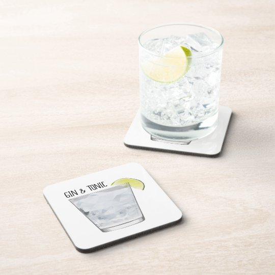 Gin and Tonic Coaster Set Bar Art Party
