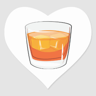Gin and Tonic Heart Sticker