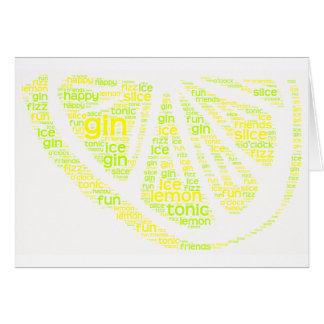 Gin Lemon Slice Card