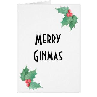 Gin Lover Christmas Card