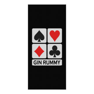 Gin Rummy rack card / bookmark