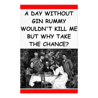 gin rummy personalised stationery