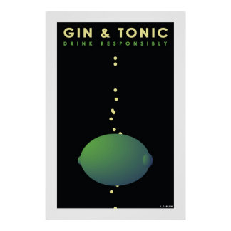 Gin & Tonic (Large Poster) Poster