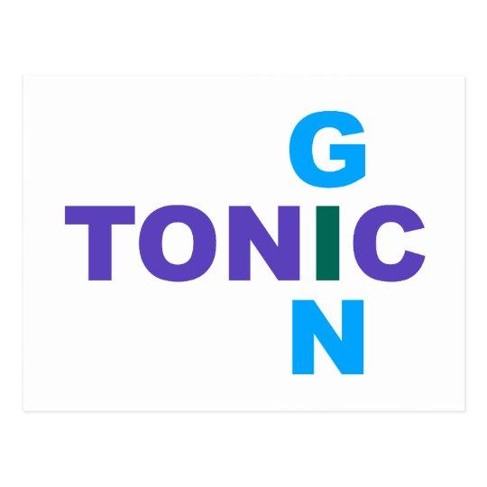 Gin Tonic Longdrink cocktail Postcard