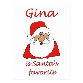 gina Christmas Postcard