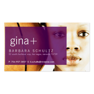 Gina's Face [purple] Business Cards