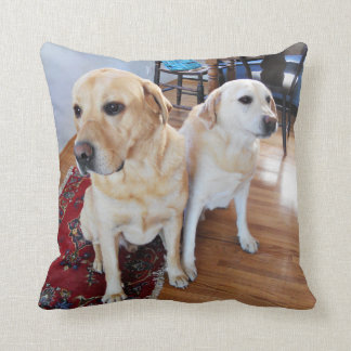 Gindick - Journey and J. River - Labradors Cushion