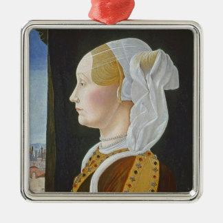 Ginevra Bentivoglio, c. 1474- 77 Christmas Ornament