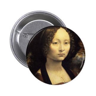 Ginevra de' Benci 6 Cm Round Badge