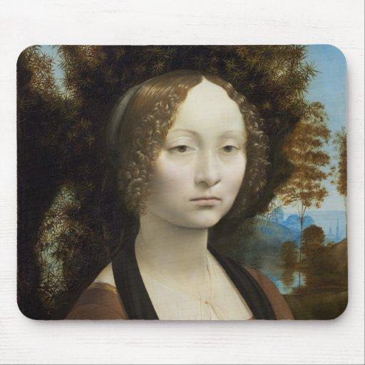Ginevra de Benci by Leonardo da Vinci Mousepad