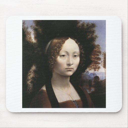 Ginevra de' Benci by Leonardo Da Vinci Mousepads