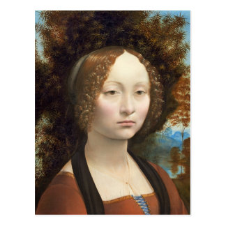 Ginevra de' Benci, c. 1474- 78 Postcard