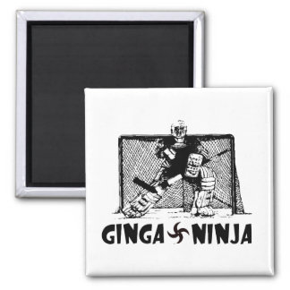 Ginga Ninja - Hockey Goalie Square Magnet