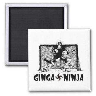 Ginga Ninja - Hockey Goalie Square Magnet