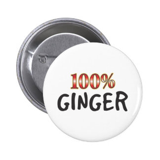 Ginger 100 Percent 6 Cm Round Badge