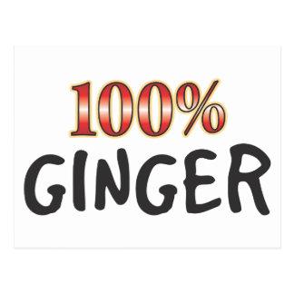Ginger 100 Percent Postcard