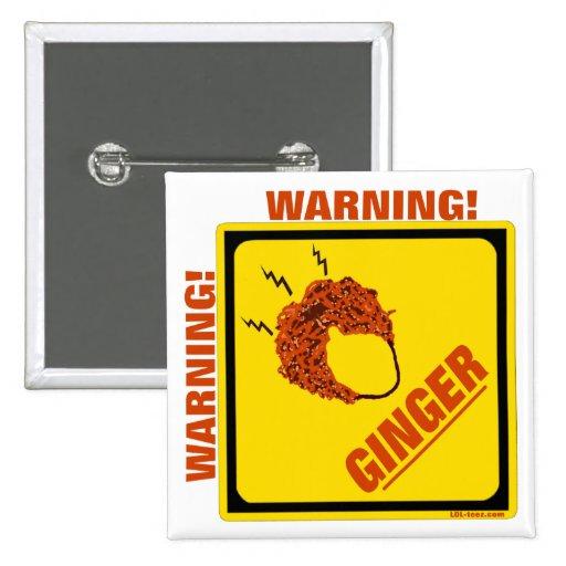 Ginger Alert! 15 Cm Square Badge