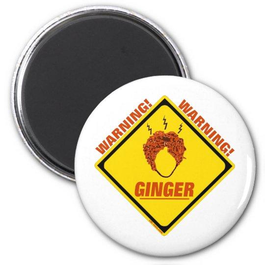 Ginger Alert! 6 Cm Round Magnet