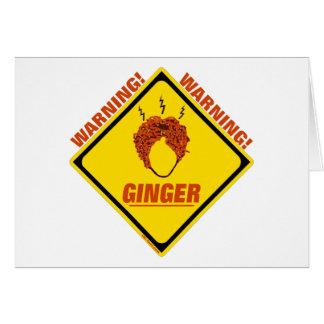 Ginger Alert Card