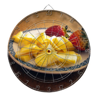 Ginger and strawberries dartboard