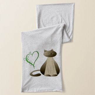 Ginger and Taby Cat Hearts Scarf