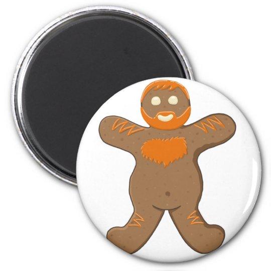 Ginger Bear Man 6 Cm Round Magnet