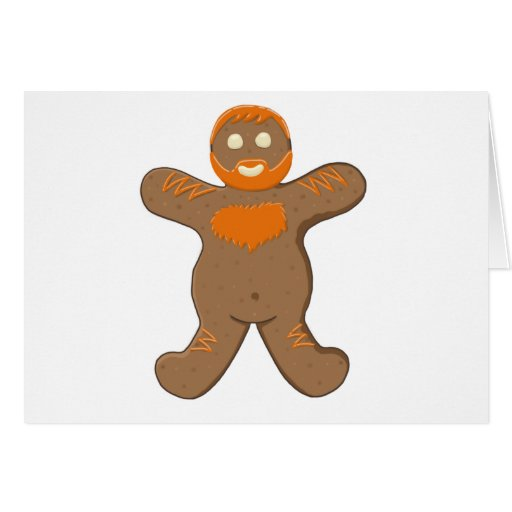 Ginger Bear Man Cards