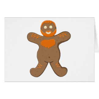 Ginger Bear Man Greeting Card