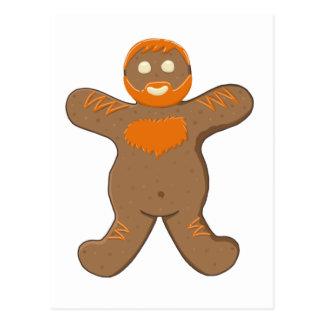 Ginger Bear Man Postcard