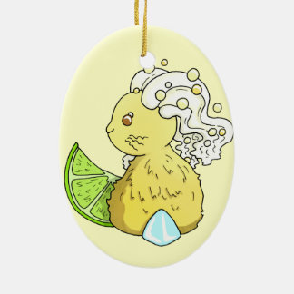 Ginger Beer Bunny Christmas Ornament
