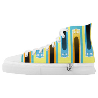 Ginger+Blue Cat striped Zipz High Top Shoes