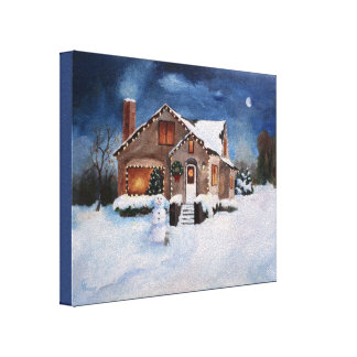 Ginger Bread House Gallery Wrap Canvas