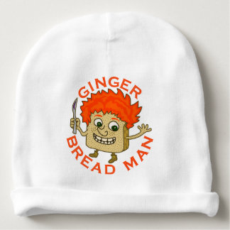 Ginger Bread Man Funny Christmas Pun Baby Beanie