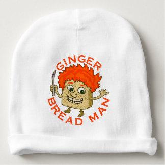 Ginger Bread Man Funny Christmas Pun Baby Beanie