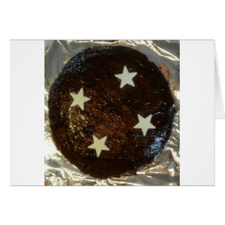 Ginger cake greeting card