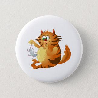 Ginger Cat 6 Cm Round Badge