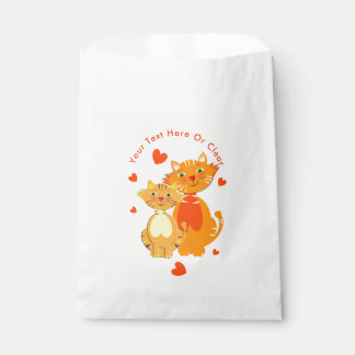 Ginger Cat and Kitten Super Cute Favour Bags