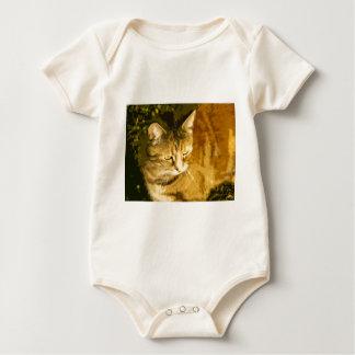 Ginger cat baby bodysuit