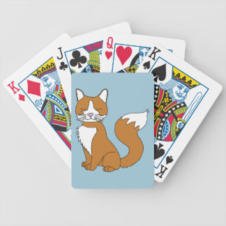 Ginger Cat Bicycle Playing Cards