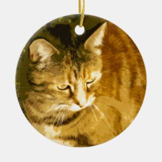 Ginger cat christmas ornament