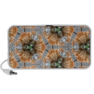 Ginger Cat Kaleidoscope Portable Speakers
