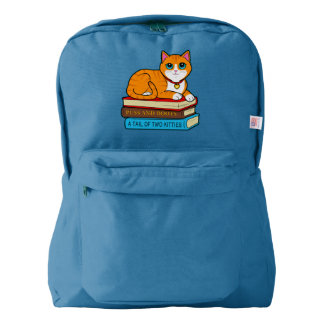 Ginger Cat on Books Backpack