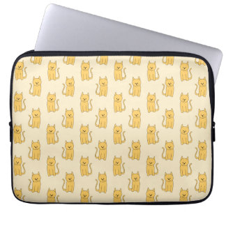 Ginger Cat Pattern. Laptop Computer Sleeves