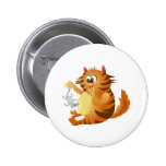 Ginger Cat Pinback Buttons