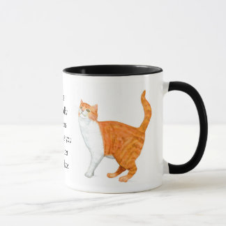 'Ginger Cat' Ringer Mug