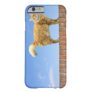 Ginger Cat Standing on Brick Wall Barely There iPhone 6 Case