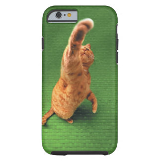 Ginger cat stretching out paw tough iPhone 6 case